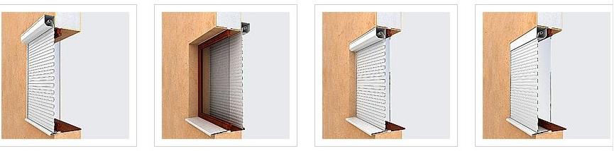 Ролети захисні на вікна двері типи монтажу