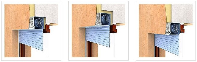 Захисні ролети на вікна з прихованим коробом